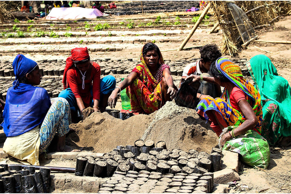 Women working to plant saplings in Rupani VDC of Nepal. These women get Rs 2 per sapling planted and they plant around 500 to 600 saplings a day. This has made them economically empowered. When women are economically empowered, they empower their family. Women get voice from economic freedom. When they do not have this work, they find work as labourers.